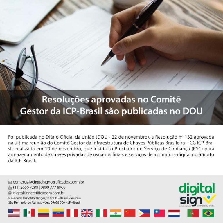 Resoluções Aprovadas no Comitê Gestor da ICP-Brasil São Publicadas no DOU