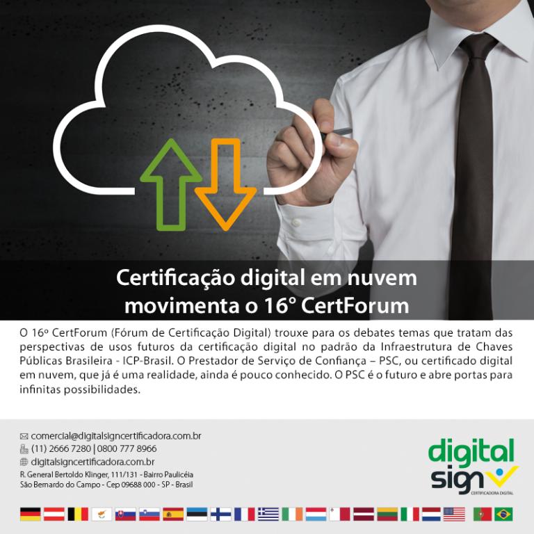Certificação digital em nuvem movimenta o 16º CertForum